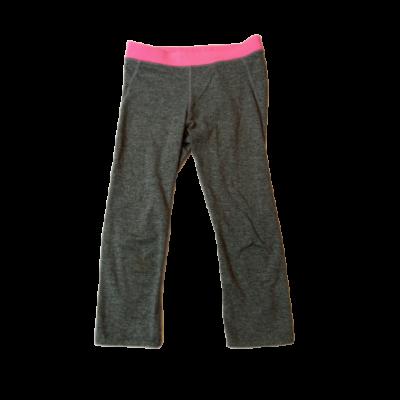 134-140-es szürke-pink térdig érő leggings, sportnadrág - H&M