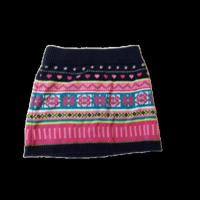 98-as kék-rózsaszín mintás kötött szoknya - Dirkje