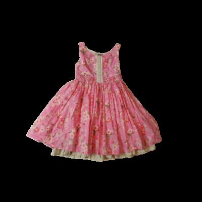 128-as rózsaszín virágos ujjatlan ruha - H&M
