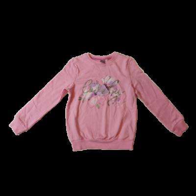 122-es rózsaszín virágos pulóver - Little Kids - ÚJ