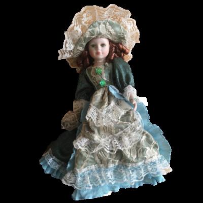 Porcelán romantikus baba, 50 cm - ÚJ (hibás)