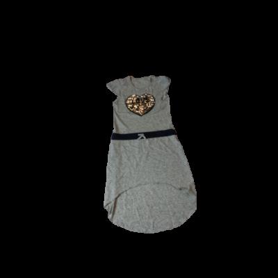 152-158-as szürke átfordítós flitteres ruha
