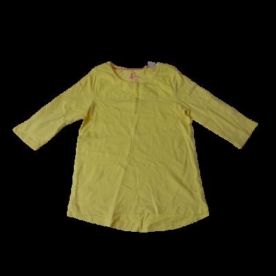 134-140-es sárga felesujjú pamutfelső - Pepperts