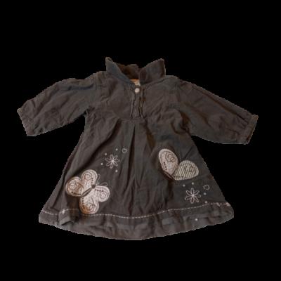 86-os barna pamut bélésű hímzett ruha - C&A
