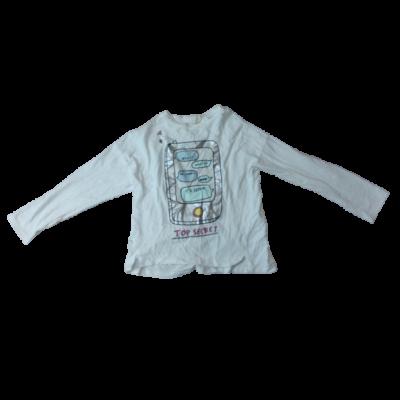 128-as fehér telefonos lány pamutfelső - Zara