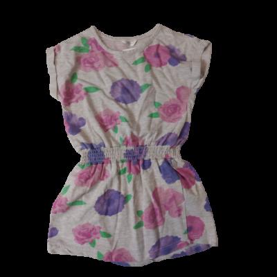 122-es szürke alapon virágos ruha