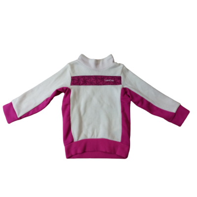 98-as fehér-pink sport pulóver - Decathlon