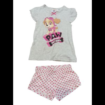 92-es szürke-fehér-pink nyári pizsama - Paw Patrol - Mancs Őrjárat - ÚJ