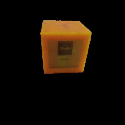 Narancssárga illatgyertya, narancs illatú, 7,5 cm magas - ÚJ