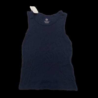 122-128-a kék ujjatlan atléta - H&M