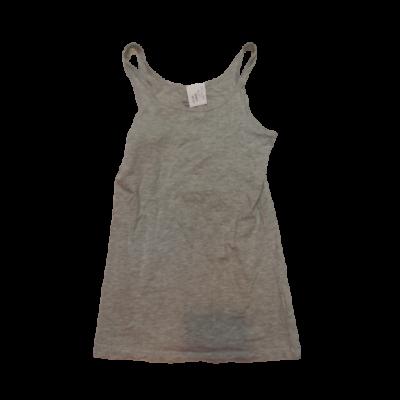 140-146-os szürke ujjatlan lány póló - H&M
