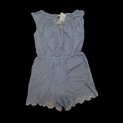 170-es kék csíkos rövidujjú ruha - H&M