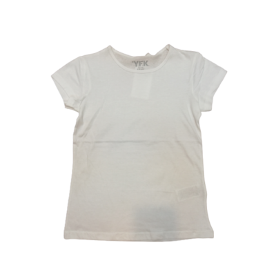 146-152-es fehér lány póló - Y.F.K. - ÚJ