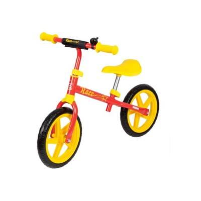 Piros-sárga fém futóbicikli - ÚJ