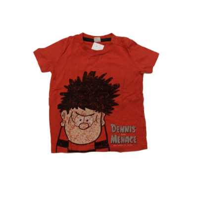 80-as piros fiús póló - Dennis a komisz