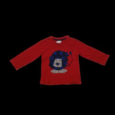 92-es piros oroszlános pamutfelső - BHS