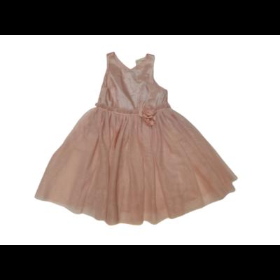 122-es rózsaszín csillogó tüllös alkalmi ruha - H&M