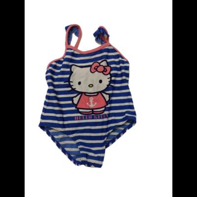 98-as kék csíkos fürdőruha - Hello Kitty