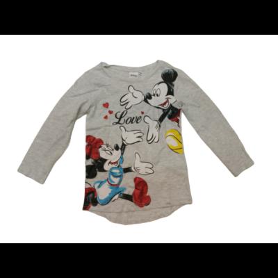 116-os szürke lány pamutfelső - Mickey & Minnie - ÚJ