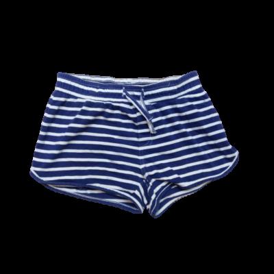128-as kék-fehér csíkos lány pamutshort - C&A