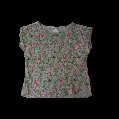 Női XL-es szürke virágos póló