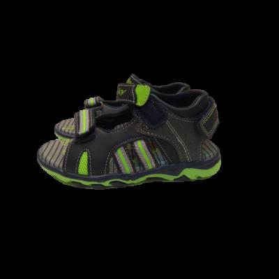 27-es fekete-szürke-zöld tépőzáras szandál - Walky - ÚJ