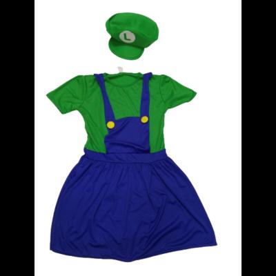 Női vagy nagylány Luigi jelmez - Super Mario - Nintendo - ÚJ