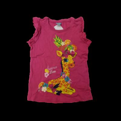 104-es pink zsiráfos póló - Kiki & Koko