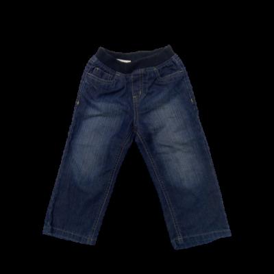 92-es kék pamutgumis derekú farmernadrág fiúnak - Mothercare