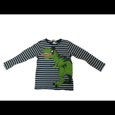 122-128-as zöld csíkos dínós pamutfelső - H&M