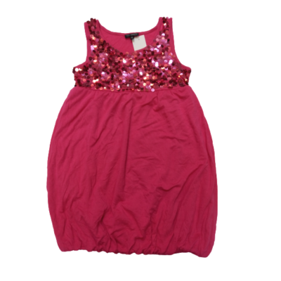 134-140-es pink flitteres tunika - KappAhl