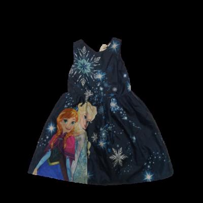 116-os sötétkék alkalmi ruha - Frozen, Jégvarázs