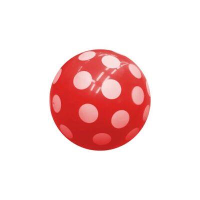Piros pöttyös labda , 22 cm - ÚJ