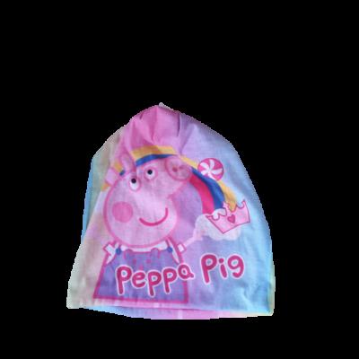50-54 cm-es fejre átmeneti sapka lánynak - Peppa Pig - Peppa Malac - ÚJ