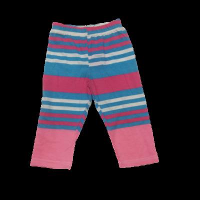 104-es kék-rózsaszín csíkos leggings - ÚJ