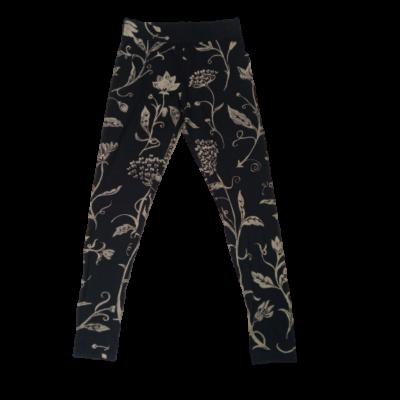 Női S-es fekete virágmintás leggings - Desigual - ÚJ