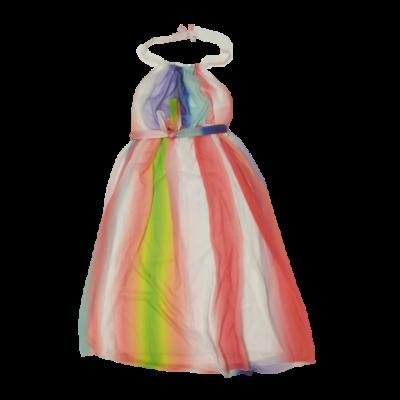 Női XXXL-es színes csíkos hosszú ruha - Body Flirt - ÚJ