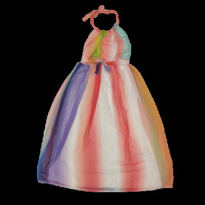 Női XXL-es színes csíkos hosszú ruha - Body Flirt - ÚJ