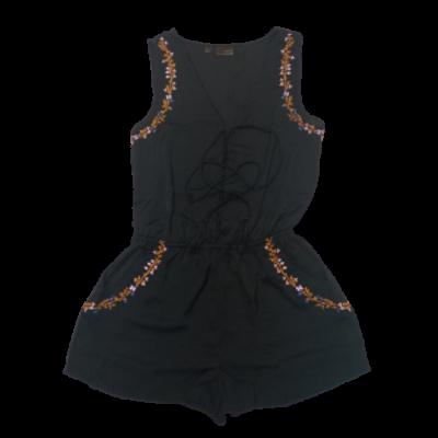 Női M-es fekete hímzett playsuit - Rainbow - ÚJ