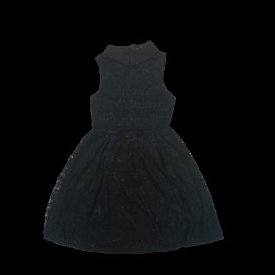 Női M-es fekete csipkés ujjatlan ruha - ÚJ