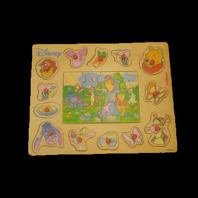 Fa puzzle, kirakóés fakirakó-berakó egyben - Micimackó