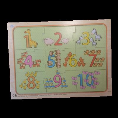 9 db-os fa puzzle, kirakó, számos