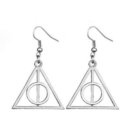 A halál ereklyéje fülbevaló, ezüst - Deathly Hallows - Harry Potter - ÚJ