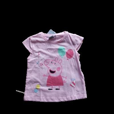 104-es rózsaszín póló - Peppa Pig - Peppa Malac - ÚJ