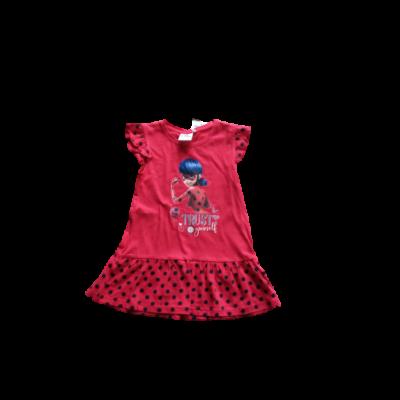 104-es piros pamut ruha - Miraculous - Csodálatos Katicabogár - ÚJ