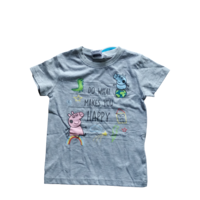 104-es szürke unisex póló - Peppa Pig - Peppa Malac - ÚJ