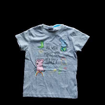 92-es szürke unisex póló - Peppa Pig - Peppa Malac - ÚJ