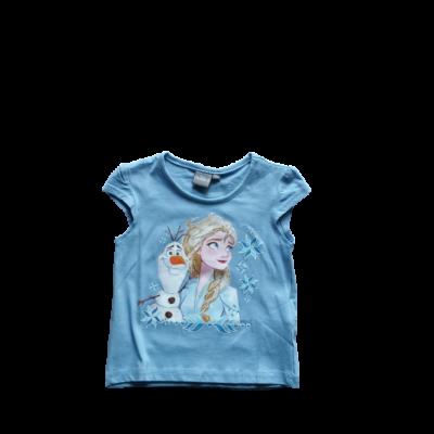 104-es kék lány póló - Frozen, Jégvarázs - ÚJ