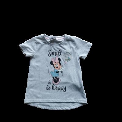 104-es szürke lány póló - Minnie Egér - ÚJ