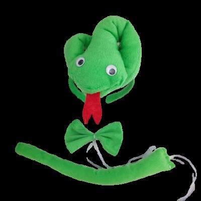 Zöld kígyó szett, 3 részes (jelmezkiegészítő) - ÚJ